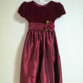 【送料無料】ベルベット ドレス 120cm  ワンピース 発表会 女の子(ドレス/フォーマル)