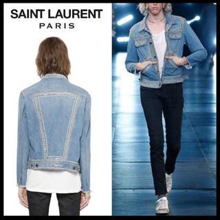 サンローラン(Saint Laurent)のサンローランパリ  SAINT LAURENT スタッズデニムジャケット(Gジャン/デニムジャケット)