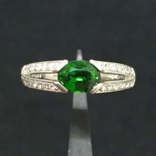 【専用出品】Pt900 クロムダイオプサイト&ダイヤ リング(リング(指輪))