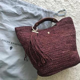 HELEN KAMINSKI - ヘレンカミンスキー タッセル付き カゴバッグ ハンドバッグ 美品