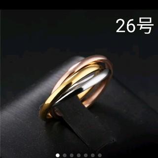《新品》特価値下げ❗️海外 26号 3連  (細) リング(リング(指輪))