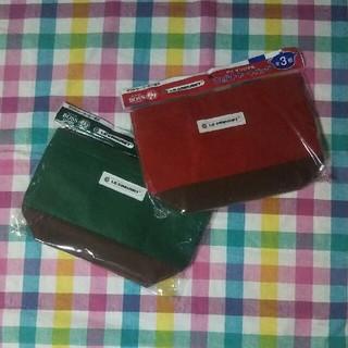 フェルト トートバッグ 赤 緑 2個セット