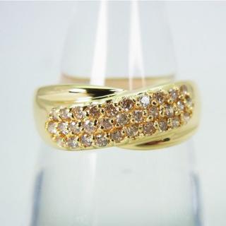 K18 淡ブラウンダイヤモンド リング 16号 [g171-6] (リング(指輪))