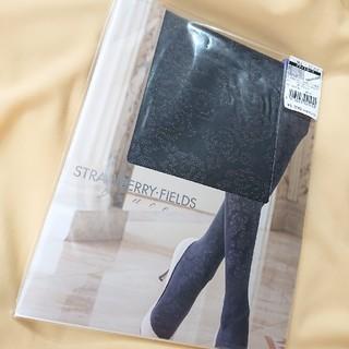 ストロベリーフィールズ(STRAWBERRY-FIELDS)の★ストロベリー・フィールズ grace★ブライトローズ柄タイツ 80D ブラック(タイツ/ストッキング)