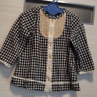 ビケット(Biquette)のri-na-mama様専用 ビケット ギンガムブラウス &西松屋ピンクネルシャツ(ブラウス)