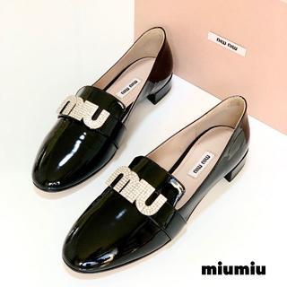 miumiu - 883 未使用 ミュウミュウ ロゴ オペラシューズ