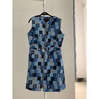 ルイヴィトン(LOUIS VUITTON)のルイヴィトン☆デニム モノグラムチェック ドレス(カーディガン)