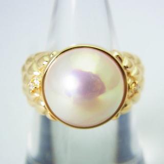 K18 天然マベパール ダイヤモンド リング 10.5号[g171-10] (リング(指輪))