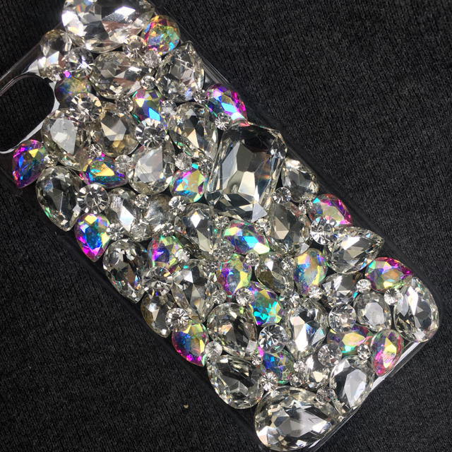 Iphone8 ケース moussy 、 キラキラガラスビジュースワロフスキーアイフォンカバーケーススマホの通販