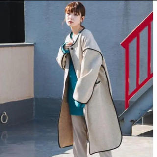 Kastane - 完売商品!!サテンライナー付きパイピングガウンコート