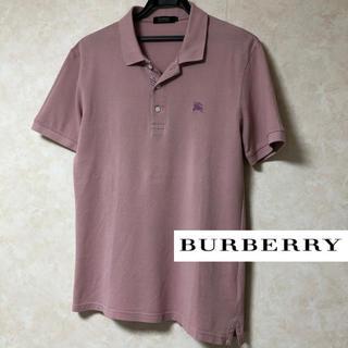 バーバリーブラックレーベル(BURBERRY BLACK LABEL)のBURBERRY バーバリーブラックレーベル ポロシャツ 半袖 鹿の子 PINK(ポロシャツ)