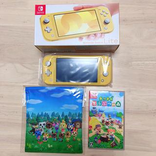 ニンテンドースイッチ(Nintendo Switch)の【新品】switch本体 あつまれどうぶつの森セット(携帯用ゲームソフト)