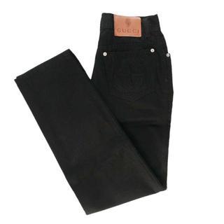 グッチ(Gucci)の送無■程度良好【GUCCI】5ポケットパンツ イタリー製 レディース ブラック(デニム/ジーンズ)