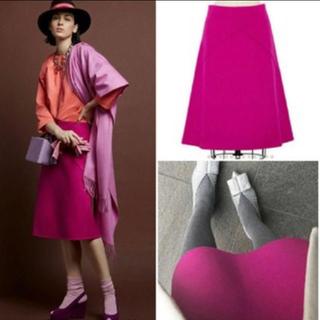 ドゥロワー(Drawer)の定価66000円 drawer ドゥロワー ピンク スカート 38(ひざ丈スカート)