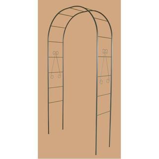 日本製 フラワーアーチ/ガーデニング用品 【幅120cm】 スチールパイプ製 (その他)