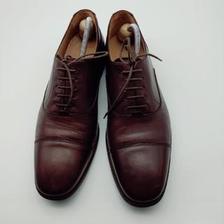 コールハーン(Cole Haan)のコールハーン Cole Haan ストレートチップ 茶色 9ハーフ 中古 革靴(ドレス/ビジネス)