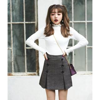 GRL - GRL チェック ダブルボタン スカート