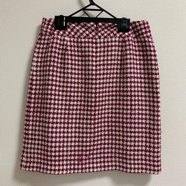 Debut de Fiore(デビュードフィオレ)の千鳥格子柄 台形 スカート レディースのスカート(ひざ丈スカート)の商品写真