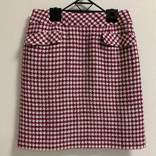 デビュードフィオレ(Debut de Fiore)の千鳥格子柄 台形 スカート(ひざ丈スカート)