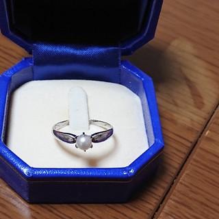 真珠プラチナリング(リング(指輪))