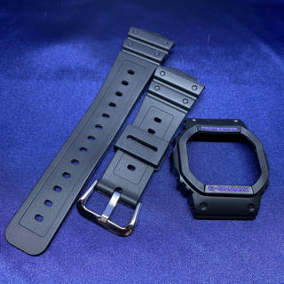 ジーショック(G-SHOCK)の5600系G-SHOCK用 互換ベゼル&バンドセット ブラック×パープル(腕時計(デジタル))