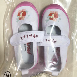ディズニー(Disney)のアリエル 上靴 ピンク 15センチ 新品(スクールシューズ/上履き)