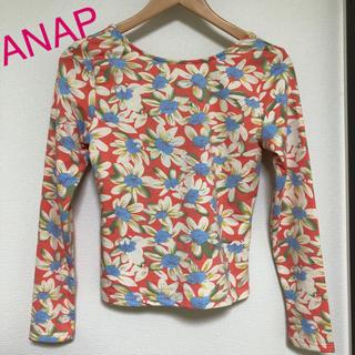 アナップラティーナ(ANAP Latina)の新品 ANAP latina 花柄トップス (カットソー(長袖/七分))