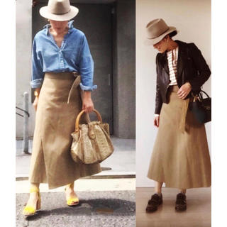 ドゥロワー(Drawer)の定価約5万円 drawer ドゥロワー ラップ スカート 36(ロングスカート)