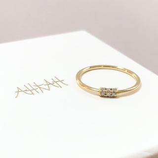アーカー(AHKAH)の【定価5万7千円】美品 AHKAH ホワイトナイトファイン リング 0.05ct(リング(指輪))