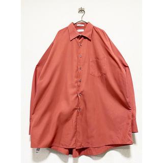イッセイミヤケ(ISSEY MIYAKE)のvintage ヴィンテージ サーモンピンク オーバーサイズ ドレスシャツ(シャツ)