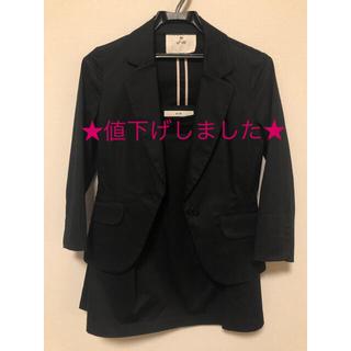エフデ(ef-de)のエフデ(ef-de)スーツジャケット&スカートのセットアップ黒(スーツ)