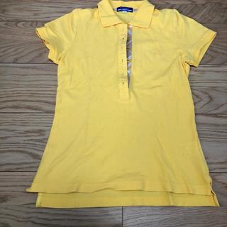 バーバリーブラックレーベル(BURBERRY BLACK LABEL)のポロシャツ レディース バーバリーブルーレーベル  イエロー(ポロシャツ)