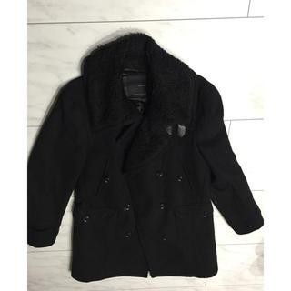 ザラ(ZARA)のザラ ZARA メンズ ロング コート 黒(トレンチコート)
