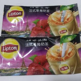 ユニリーバ(Unilever)の台湾「リプトン」フランスイチゴミルクティー 二個セット(茶)