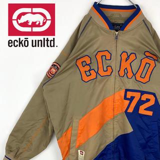 エコーアンリミテッド(ECKO UNLTD)のエコー 90sゆるだぼ デコロゴ ブルゾン ナイロンジャケット クレイジーカラー(ブルゾン)