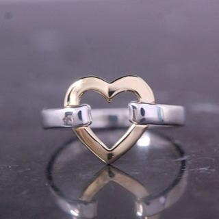 ティファニー(Tiffany & Co.)のTIFFANY&Co. ティファニー ゴールド シルバー コンビ ハート リング(リング(指輪))