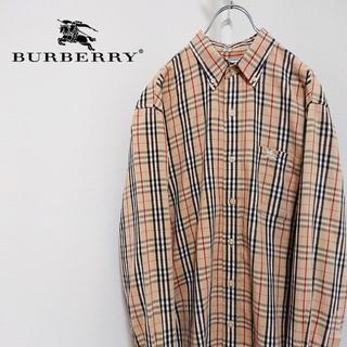 BURBERRY - 90's 古着 Burberry バーバリー ノバチェックシャツ ベージュ