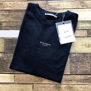 アクネ(ACNE)の新品 ACNE STUDIOS ロゴ Tシャツ ブラック 新作(Tシャツ(半袖/袖なし))