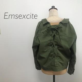 エムズエキサイト(EMSEXCITE)の-Emsexcite- バックレースアップGジャン(Gジャン/デニムジャケット)