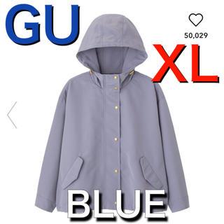 GU - 新品 完売 gu マウンテンパーカー  ブルー LL XL レディース 即購入