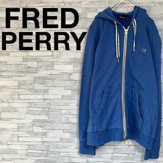 フレッドペリー(FRED PERRY)の激レア FRED PERRY フレッドペリー パーカー ブルー ワンポイント(パーカー)