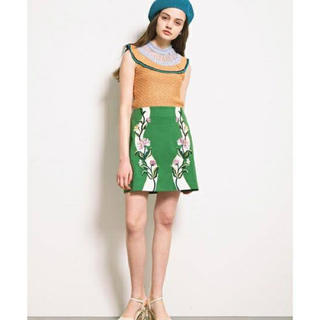 Lily Brown - 未使用品【リリーブラウン】花柄刺繍スカート