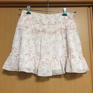 デビュードフィオレ(Debut de Fiore)のデビュードフィオレ バイ レッセパッセ 花柄スカート(ミニスカート)