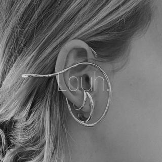 ハイク(HYKE)のj342.design ear hook(silver)(イヤーカフ)