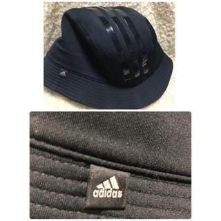 アディダス(adidas)のadidas ⭐︎ ハット⭐︎ ブラック⭐︎ サイズ 58cm(ハット)