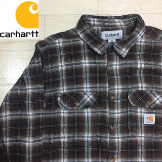 carhartt - 【used】Carhartt Design Over Flannel shirt