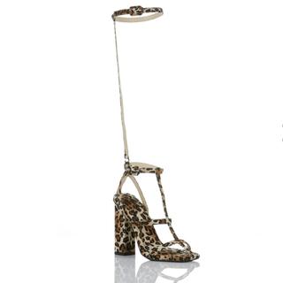 イエローブーツ(Yellow boots)のYELLO レオパードサンダル 新品未使用(ハイヒール/パンプス)