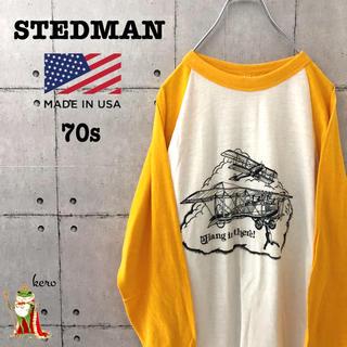 【激レア】70s STEDMAN ビンテージ ラグラン Tシャツ(Tシャツ/カットソー(七分/長袖))