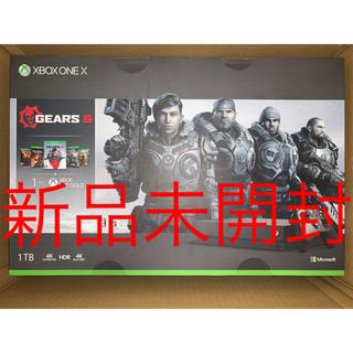 エックスボックス(Xbox)の【新品未開封】Xbox One X(Gears 5 同梱版)CYV-00336(家庭用ゲーム機本体)