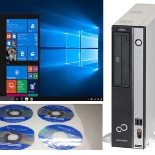 フジツウ(富士通)のFUJITSU デュアルコア デスクトップPC Windows10 64ビット(デスクトップ型PC)
